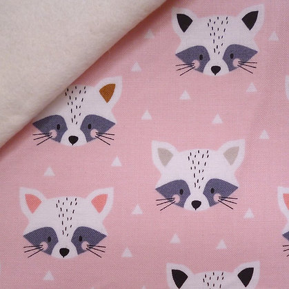 Fabric Felt :: Geo Forest :: Racoons on Natural