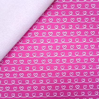 Fabric Felt :: Forever Love Hearts on White