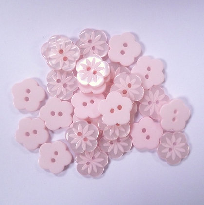 5 Petal Flower Button :: Blush