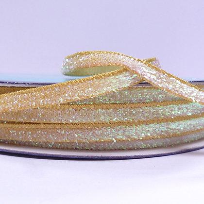 5mm Glitter Velvet Ribbon :: Mustard