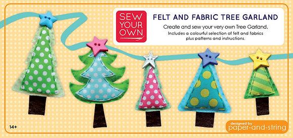 Felt & Fabric Christmas Tree Garland Large Kit