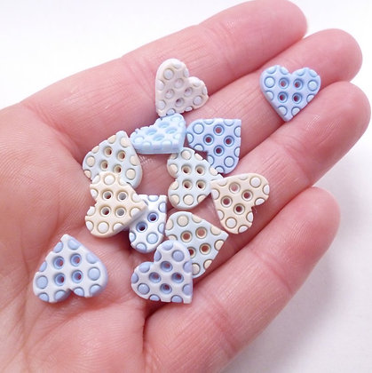 SALE Fantastic Button Packs :: Tiny Geo Baby Boy Hearts