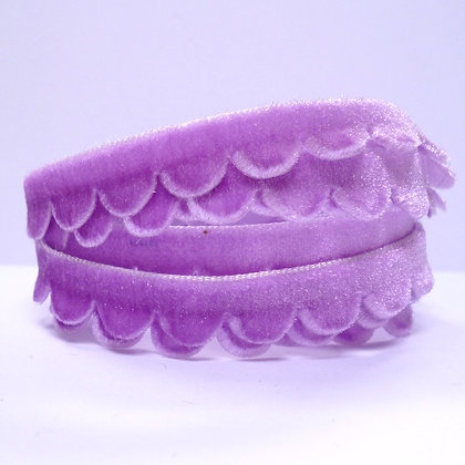 Velvet Scallop Ribbon :: Lilac