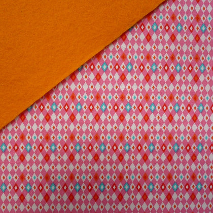 Fabric Felt :: VK Pink Harlequin on Satsuma