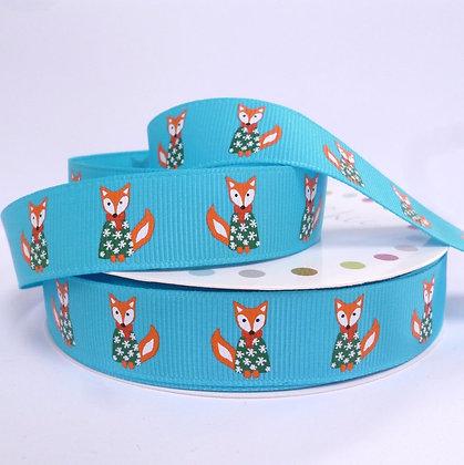 Christmas Grosgrain Ribbon :: Fox in Jumper
