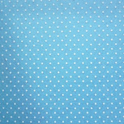 Polka Dot Felt Square :: PALE BLUE
