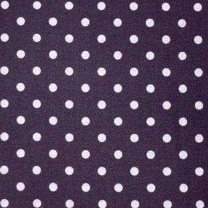 Fabric :: Dot & Dash :: Grey Dots on Black