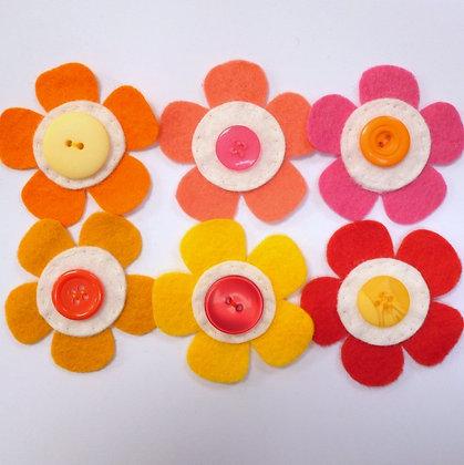 Citrus :: Med Flower Pack :: Handmade Embellishments