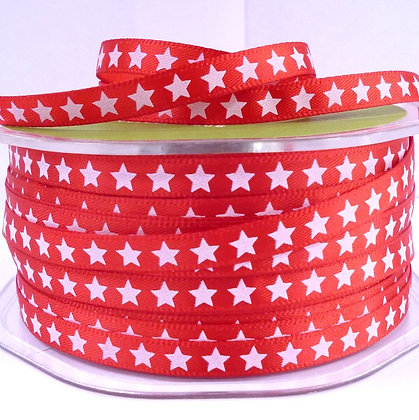 "1/4"" star ribbon :: red"