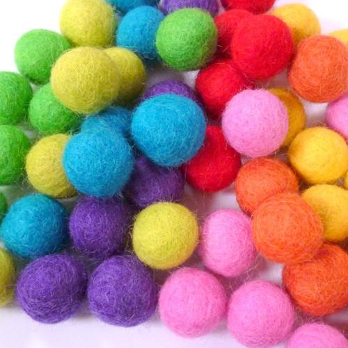 felt balls & shapes