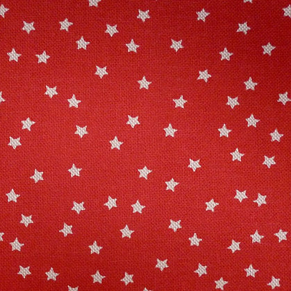 Fabric :: Wide :: Natural Christmas :: Little Stars on Red