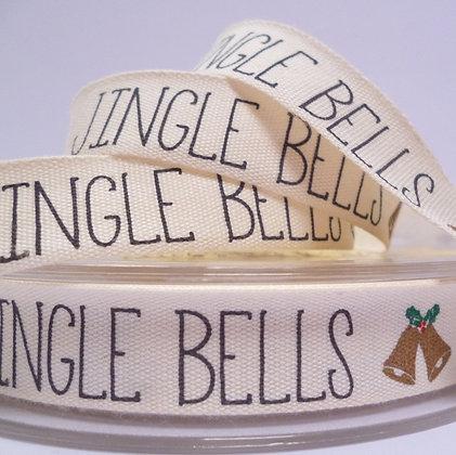 NEW Cotton Christmas Ribbon :: Jingle Bells