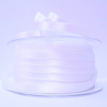 7mm Satin Ribbon :: White (001)
