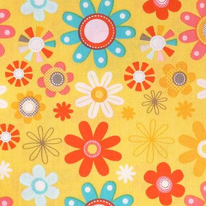 Fabric :: Girl Crazy :: Yellow Flower