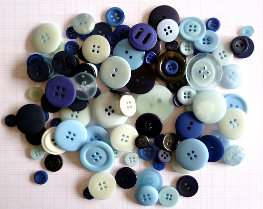 Buttons By Weight :: Blue