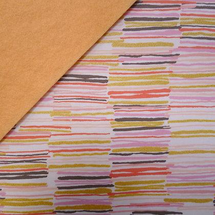 Fabric Felt :: Metallic Offline Blush on Peach