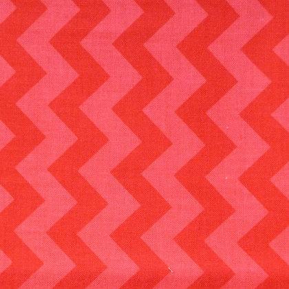 FQ SALE Fabric :: Small Chevron :: Red FAT QUARTER