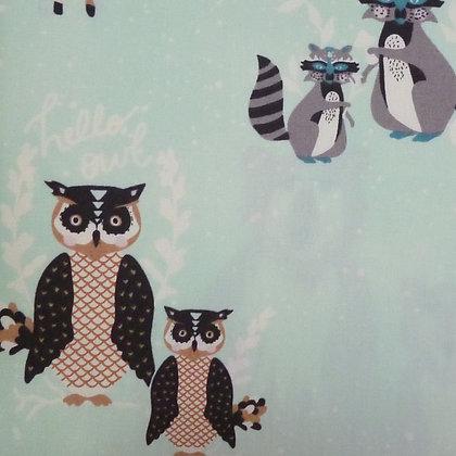 SALE Fabric :: Hello Bear :: Animals on Aqua
