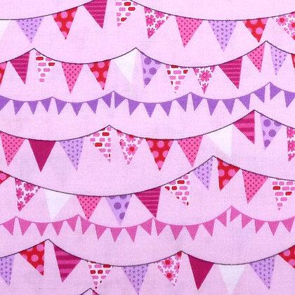 Fabric :: Around Town :: Bunting Pink