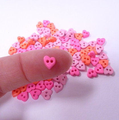 Pack of Micro Hearts :: Pink