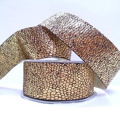 38mm Snake Skin effect ribbon :: Gold