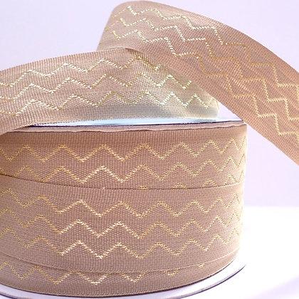 Metallic Chevron Ribbon :: Gold
