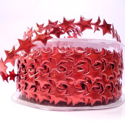 Cut Out Ribbon :: Shiny Stars Red
