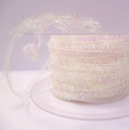 Tiny Tinsel Trim :: Iridescent White