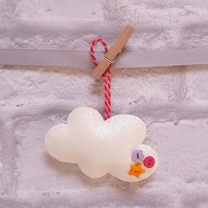 Handmade :: Fluffy Cloud :: S fine glitter Pink & Red