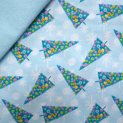 Fabric Felt :: Get Jolly  :: Trees on Ice Blue