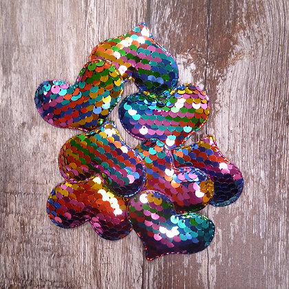 Padded Heart :: Rainbow Sequins