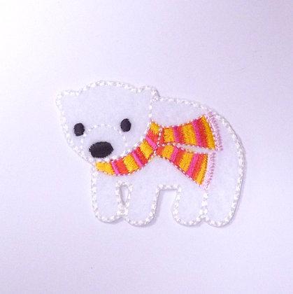 Embroidered Motif :: Polar Bear & Scarf
