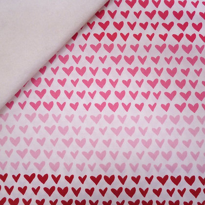 Fabric Felt :: Hello Sweetheart :: Cream Pink Rainbow Heart on Natural
