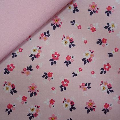 Fabric Felt :: Vintage Daydreams Small Flower Blush on Blush LAST FEW
