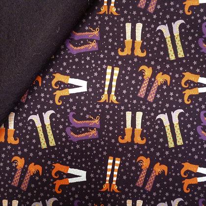 Fabric Felt :: Hocus Pocus :: Witches Legs on Black