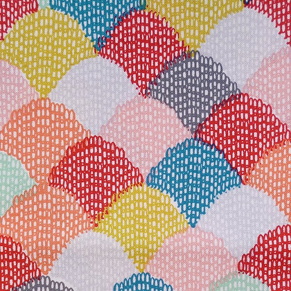 Fabric :: Hipster :: Teal Scallop