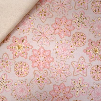Fabric Felt :: Mr Kringle's Cookies :: Pink on Natural