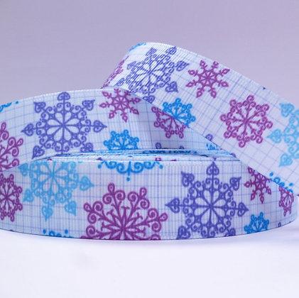Christmas Grosgrain Ribbon :: Purple Snowflakes
