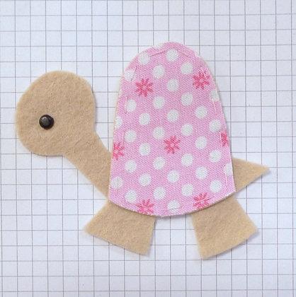 Pink Flower :: Tortoise :: Handmade Embellishment