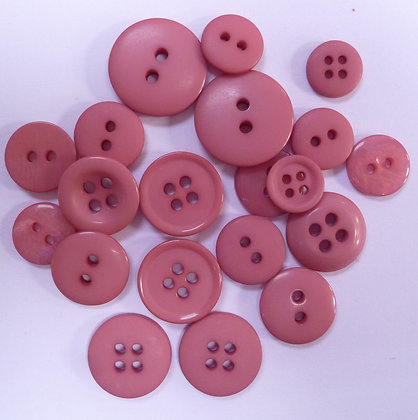 Dyed Pick & Mix Buttons :: Raspberry