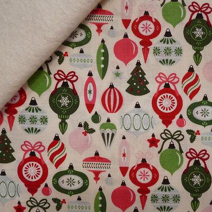 Fabric Felt :: Merry/Bright :: Cream Bauble on Natural