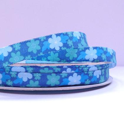 Floral Grosgrain Ribbon :: Blue