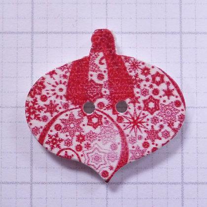Wooden Bauble Button :: Mini Stars