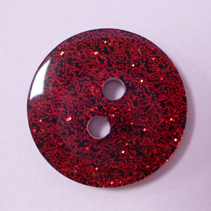 Colour Glitter Buttons :: LARGE :: Red