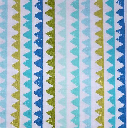 Fabric :: Pets A Plenty :: Blue & Aqua Zig Zag
