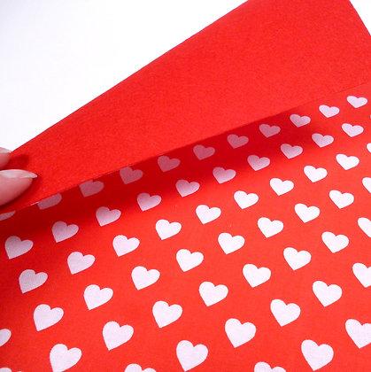Fabric Felt :: Hearts All Over & Red Felt