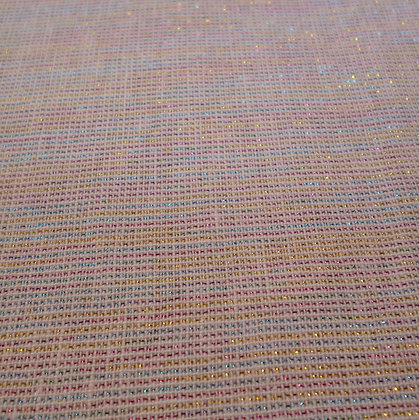 Fabric :: Essex Yarn Dyed Metallic :: Sorbet Rainbow