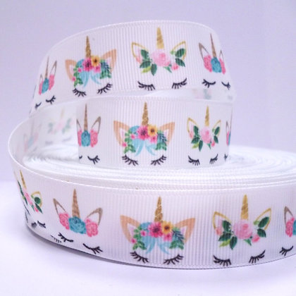 Cute Grosgrain Ribbon :: Unicorn & Floral Crown