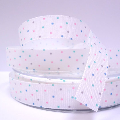 Baby Ribbon Mini Dots :: White