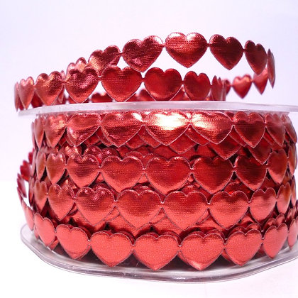 Cut Out Ribbon :: Shiny Hearts Red